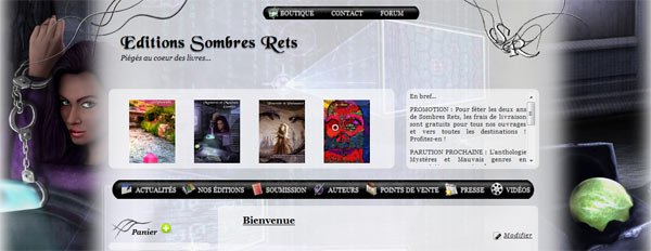 design - Le site des éditions Sombres Rets change de tête