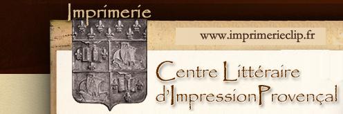 Imprimerie CLIP Centre Littéraire d'Impression Provençale, imprimerie spécialisée dansl'édition, à Marseille